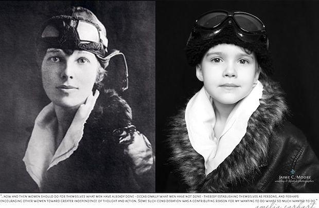 Emma jako Amelia Earhart © Jaime Moore