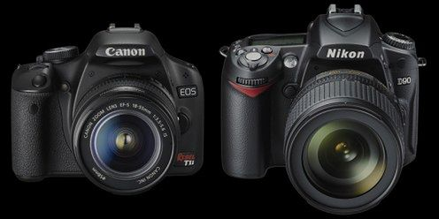 Porównanie: Canon EOS 500 - Nikon D90