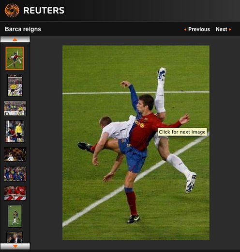 Finał Ligi Mistrzów okiem Reuters'a