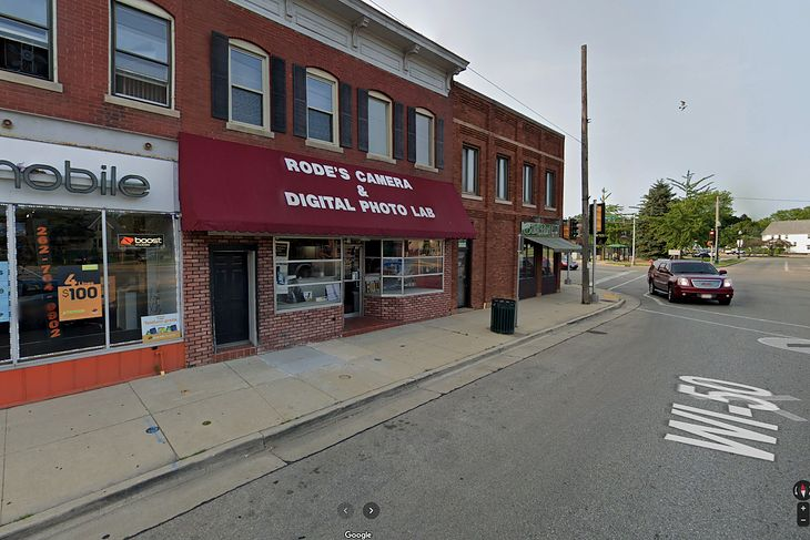 Rode's Camera Shop w Google Street View. Zrzut ekranu.