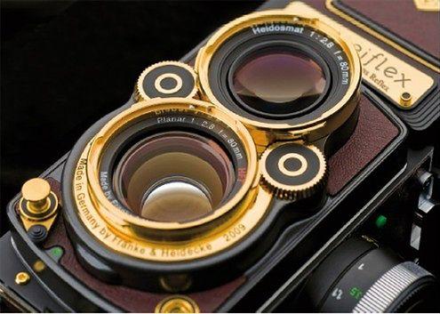 Deser na weekend: Rolleiflexy w 14-karatowym złocie