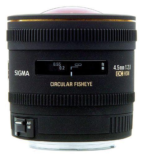 Sigma 4,5 mm f/2.8 EX DC Fisheye HSM