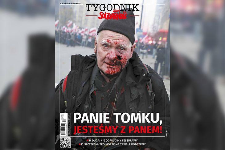 """Okładka """"Tygodnika Solidarność"""", numer 47/2020"""
