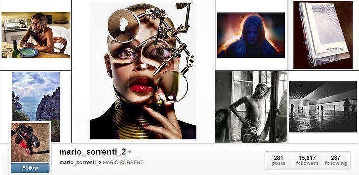 Mario Sorrenti na Instagramie