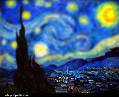 Van Gogh malował w Tilt-Shift!