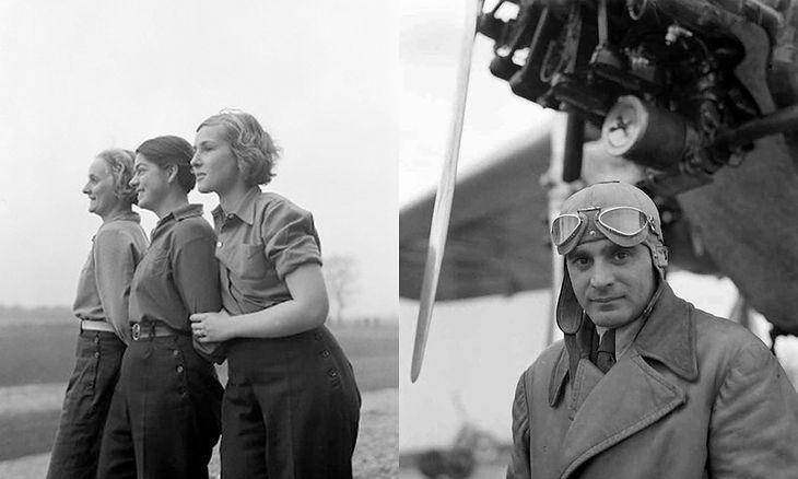 Montaż zdjęć wykonanych w 1934 roku. Na lewym zdjęciu pierwsza z prawej to Danuta Marczak, późniejsza żona Stanisława Płonczyńskiego, na prawym zdjęciu.