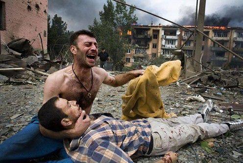 Konflikt w Gruzji, fot. Wojciech Grzędziński
