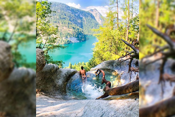 Tak wygląda basen przy wodospadzie Köningsbach.