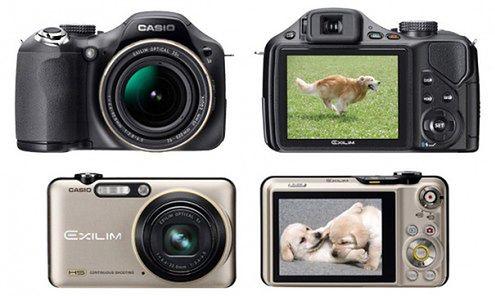 2 nowe kompakty Casio - rejestrują filmy z prędkością do 1000 kl/s.