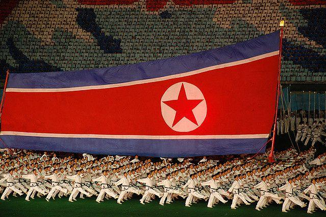 Manifestacja w Korei Północnej (Fot. Flickr/(stephan)/Lic. CC by-sa)