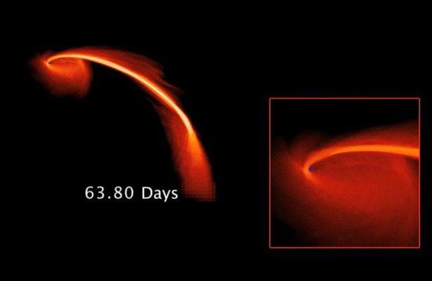 Czarna dziura pochłonęła gwiazdę (fot.: NASA / symulacja zjawiska)