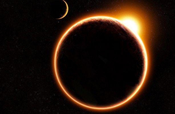 Obrączkowe zaćmienie Słońca online (fot.: NASA)