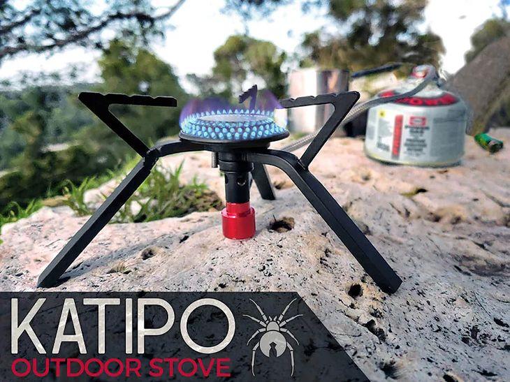 Katipo to projekt niewielkiego przenośnego palnika idealnego na biwak