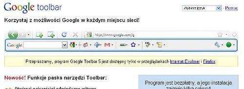 Wpadka Google - Toolbar nie działa pod Chrome | Gadżetomania pl