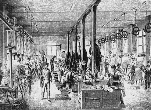 Dzieci pracujące w fabryce, XIX wiek