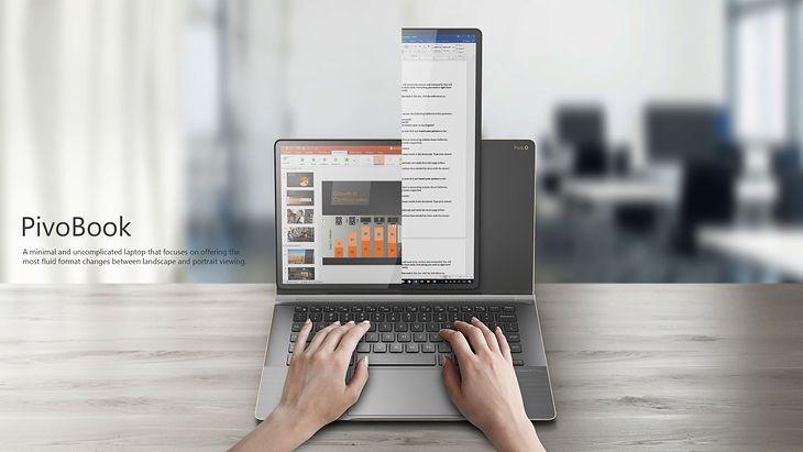 Compal PivoBook, czyli przekręcany do pionowej pracy ekran w laptopie