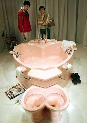 toaleta dla dwojga
