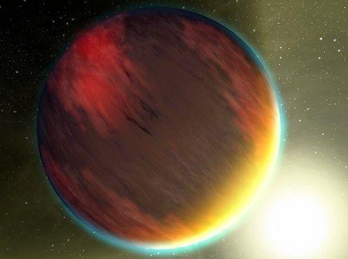 Planeta typu gorący jowisz - wizja artysty