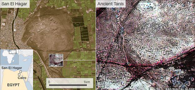 Starożytne Tanis zagrzebane pod piaskami