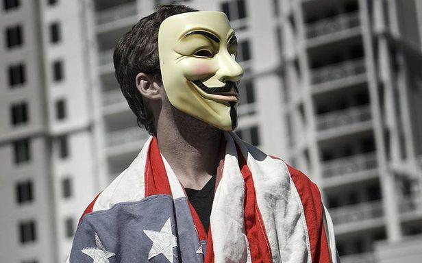 Anonimowi zadarli z amerykańskim rządem i korporacjami (Fot. Flickr/Anonymous9000/Lic. CC by)