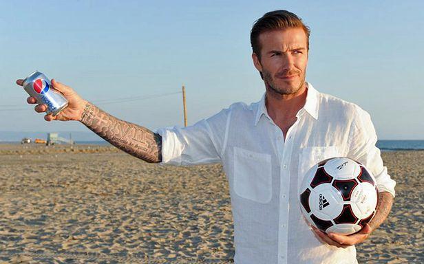 Beckham podczas kręcenia reklamy Diet Pepsi (Fot. Facebook.com/dietpepsi)