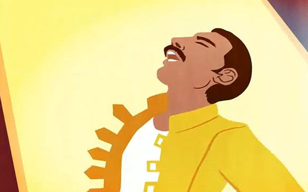 Animowany Freddie Mercury (Fot. YouTube)