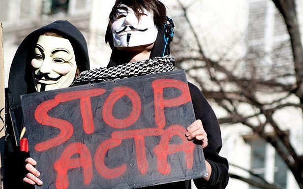 Protest przeciwko ACTA (Fot. Flickr/kalamun/Lic. CC by-sa)