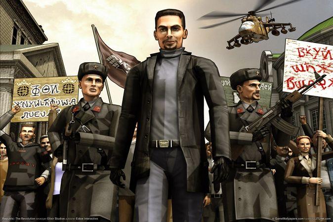 W grze Republika: Rewolucja obalało się dyktatora republiki Nowistrana. Zadanie wyglądało poważnie, dopóki nie zaczęło się czytać haseł napisanych cyrylicą. Miały tylko jedną wadę -- były bez sensu.