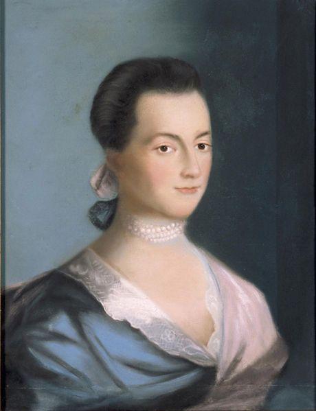 Å»ona prezydenta Adamsa na portrecie Benjamina Blythe'a (Fot. Wikipedia Commons)