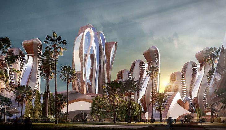 Wizualizacja Akon City