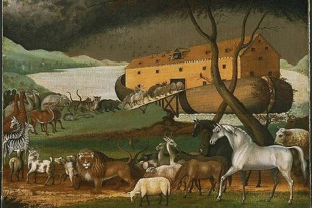 Arka Noego - obraz Edwarda Hicksa (Fot. Wikimedia Commons)