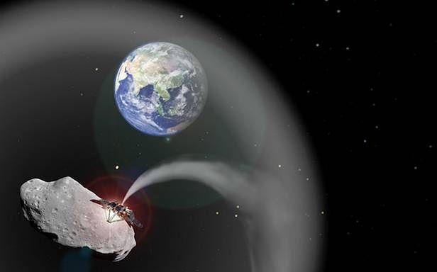 Asteroida 1036 Ganymed uratuje Ziemię przed katastrofą klimatyczną? (Fot. Dvice.com)