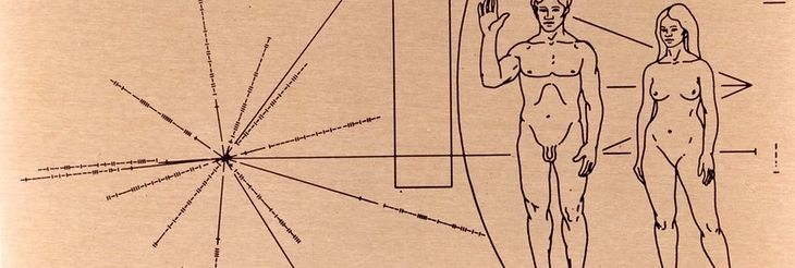 To my, Ziemianie! Rysunek na Voyager Golden Record
