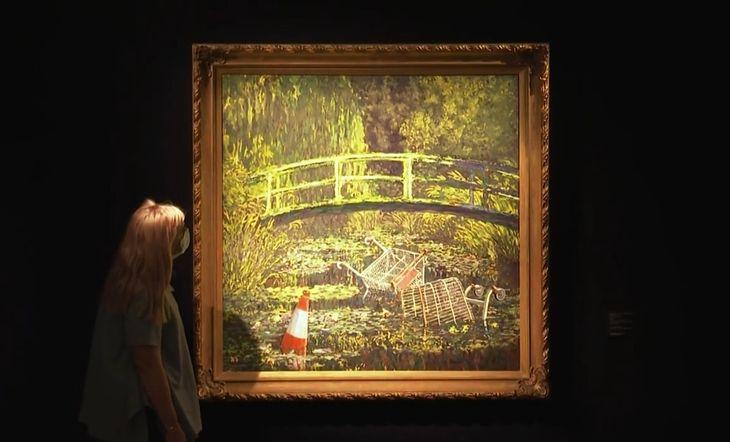 "Obraz Banksy'ego ""Show me the Monet"""