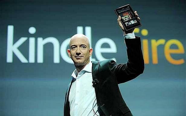 Jeff Bezos prezentuje tablet Amazonu, Kindle Fire