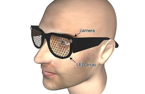 Okulary na wizualizacji (źródło: PopSci)