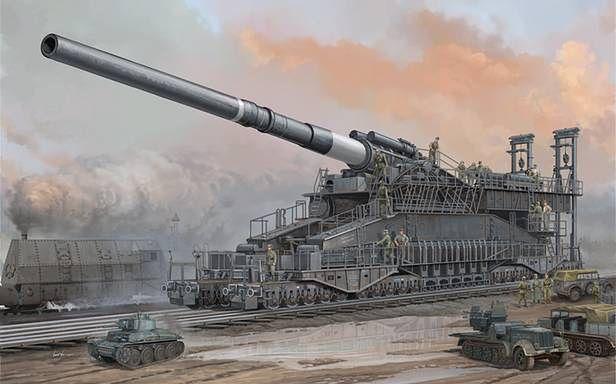 80 cm Kanone 5. Pojazdy pozwalają ocenić wielkość działa