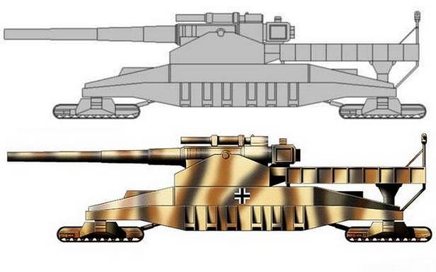 Landkreuzer P. 1500 Monster - inna koncepcja wyglądu