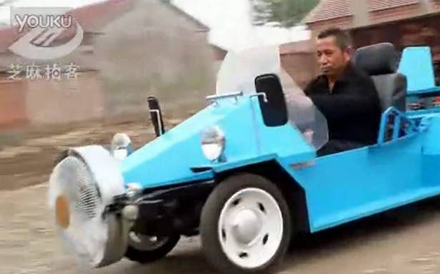 Samochód napędzany wiatrem (Fot. YouTube.com)