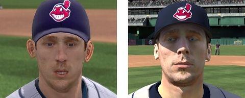 Cliff Lee na Xbox 360 po lewej i PS3 po prawej