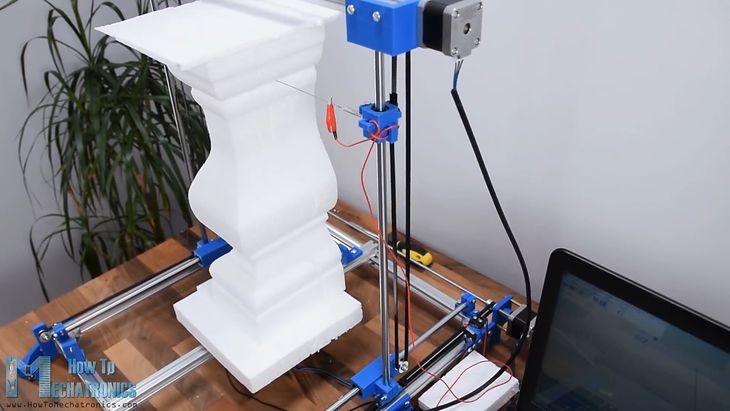 Prosta maszyna CNC do pianki? Możesz wykonać taką w domu