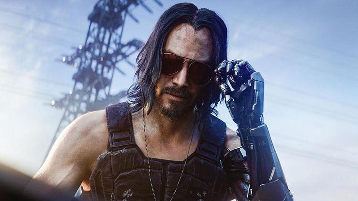 """Johnny Silverhand, w którego w grze """"Cyberpunk 2077"""" wcieliłsię Keanu Reeves"""