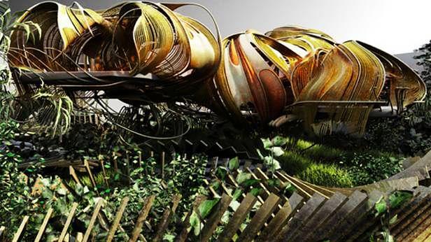 Wizualizacja domu odpornego na trzęsienia ziemi (Fot. IO9.com)