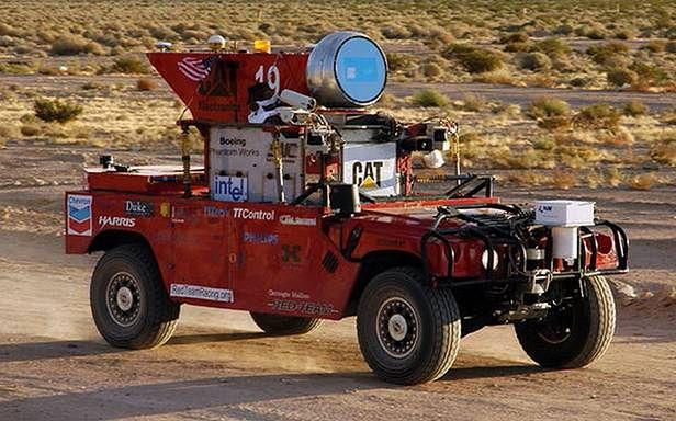 Jeden z pojazdów, biorących udział w DARPA Grand Challenge 2004