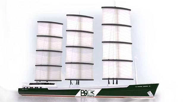 B9 Shipping proponuje powrót do żagli (Fot. Gizmag.com)