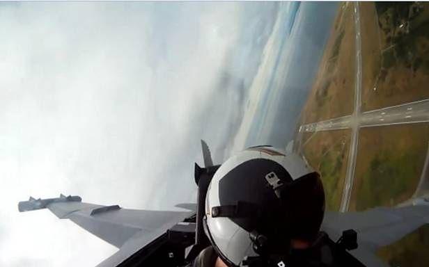 Widok z kabiny F/A-18