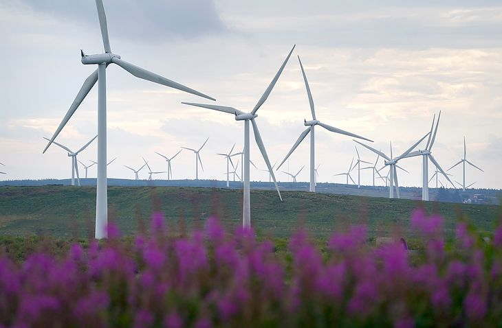 Farma wiatrowa w Irlandii. (fot. Andrew Milligan - PA Images)