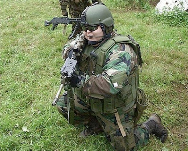 Żołnierz przed kuracją...