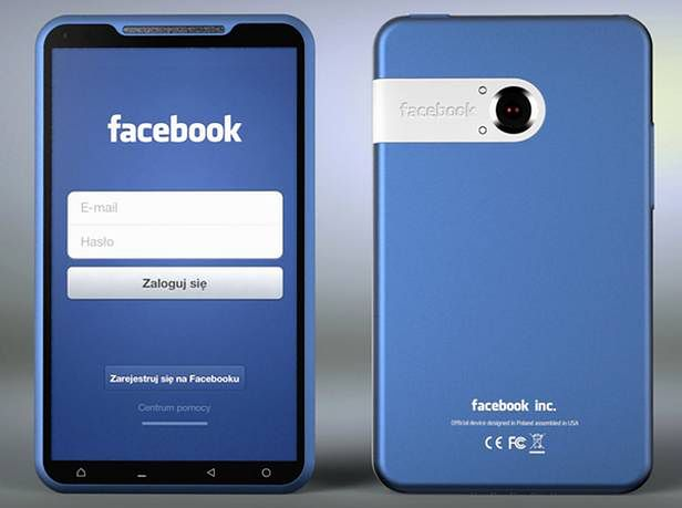 Tak mógłby wyglądać Facebook Phone (Fot. Yanko Design/Michal Bonikowski)