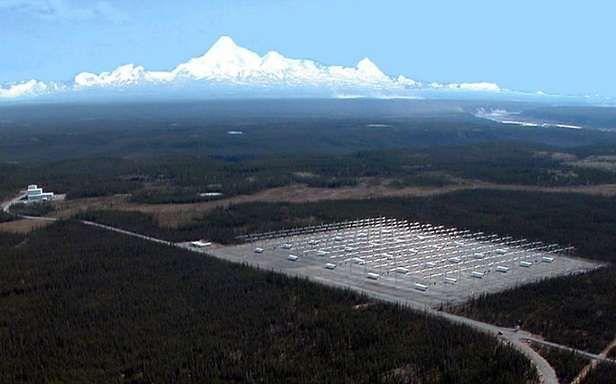 Kompleks anten HAARP w bazie Gakona na Alasce